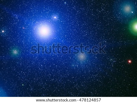 Starry outer space background texture #478124857