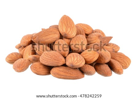 Almonds isolated on white #478242259