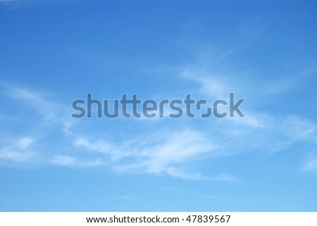 Fantastic soft white clouds against blue sky #47839567