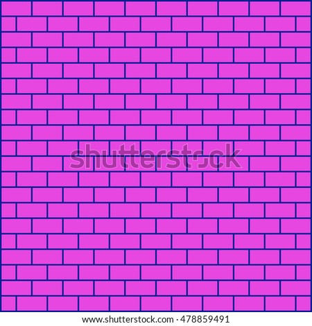 Brickwork. Colored abstract background. Vector illustration. For your design. #478859491