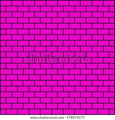 Brickwork. Pink abstract background. Vector illustration. For your design. #478874275