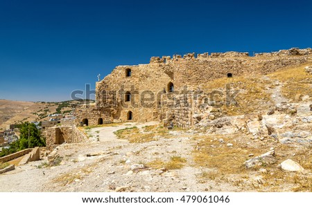 Medieval Crusaders Castle in Al Karak - Jordan #479061046