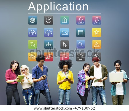 Application Cloud Network Communication Internet Concept #479130952