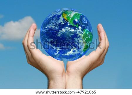 Earth in Hands #47921065