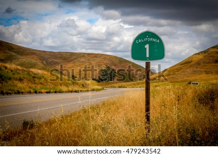 When you go along the Highway 1 north from Los Angeles, you can visit a lot of interesting places along the pacific coast. Royalty-Free Stock Photo #479243542