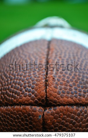 Isolated football in the grass #479375107