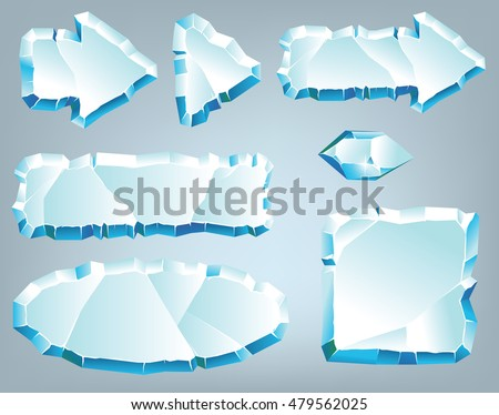 Vector ice design elements for game and web #479562025