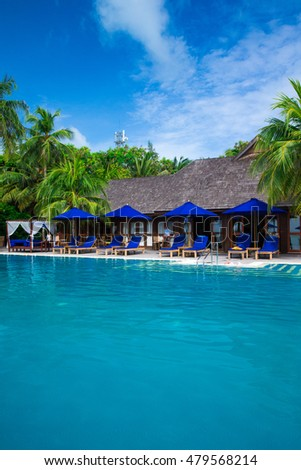 swimming pool in hotel Thailand #479568214