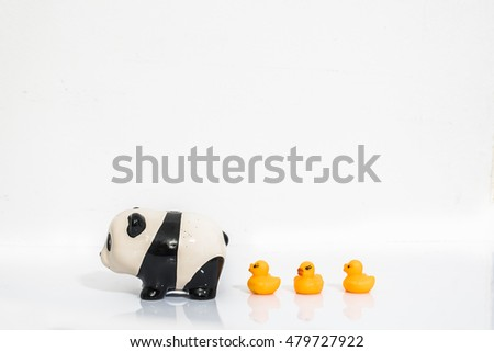 panda and ducks toy