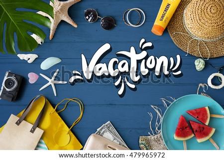 Beach Vocation Enjoy Holidays Summer Concept #479965972