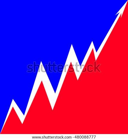 Up Arrow stylized French flag #480088777