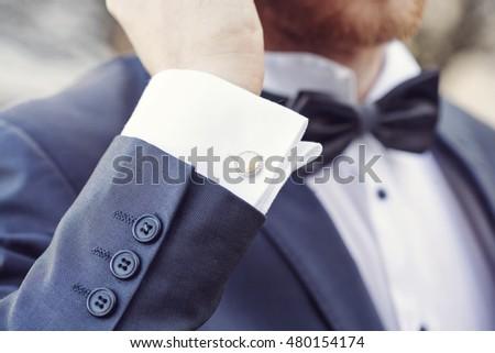 elegant fashionable cufflink #480154174