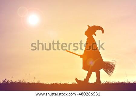 Silhouette wizards .concept Halloween #480286531