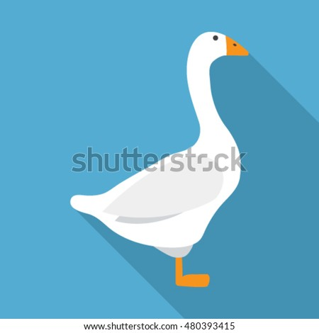 goose flat icon. You can be used goose icon for several purposes like: websites, UI, UX, print templates, promotional materials, info-graphics, web and mobile phone apps.