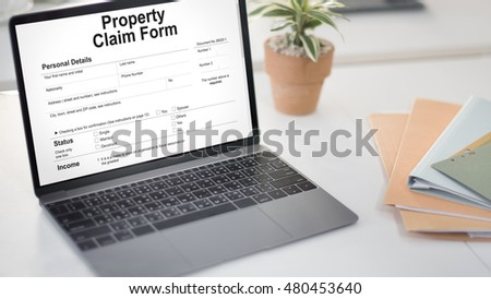 Property Claim Form Payslip Purchase Order Concept #480453640