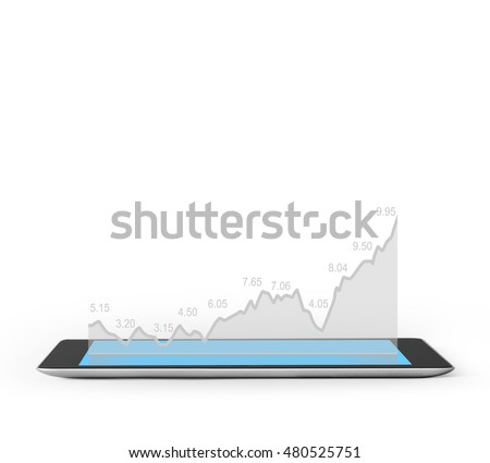 Realistic tablet pc computer blank screen #480525751