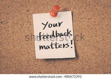 Your feedback matters #480672391