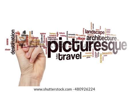 Picturesque word cloud concept #480926224