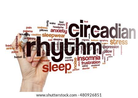 Circadian rhythm word cloud concept #480926851