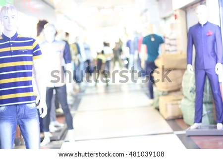 Blurred shopping mall background #481039108
