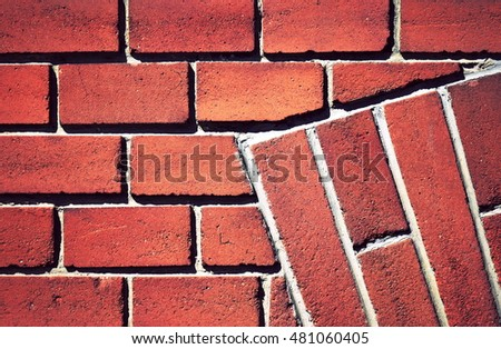 abstract background or texture Retro red brick background #481060405