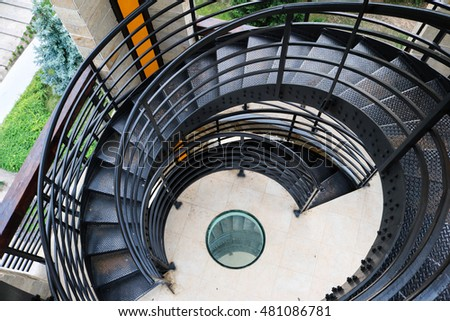 Spiral stairs #481086781