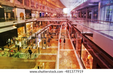 Blur of Defocus Background of Shopping mall #481377919