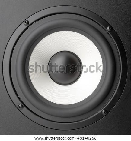 Background of black speaker with sphere #48140266
