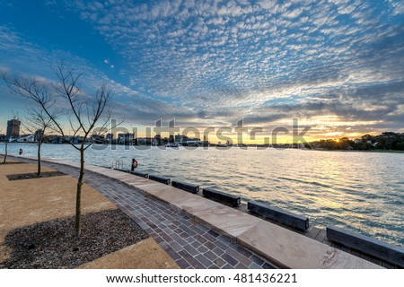 Barangaroo reserve in Sydney Royalty-Free Stock Photo #481436221