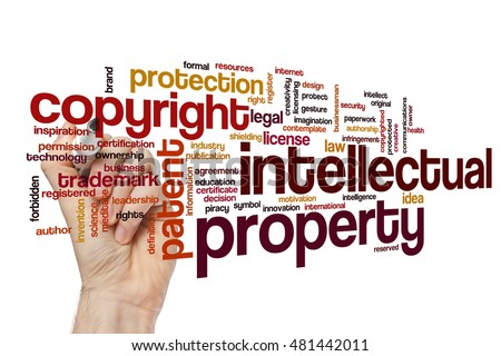 Intellectual property word cloud concept #481442011