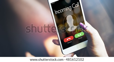 Incoming Call Communication Connect Concept #481612102