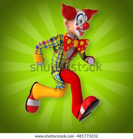 Fun clown - 3D Illustration #481773232