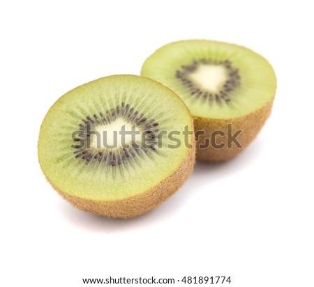 ripe kiwifruit  isolated on white background #481891774