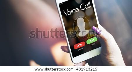 Voice Call Communication Connect Concept #481913215