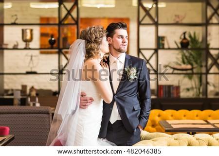 groom and bride portrait #482046385