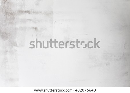 Grunge White Background Cement Old Texture Wall. Grungy white concrete wall background. Background from high detailed fragment stone wall.  Cement texture.  Grey concrete wall. #482076640
