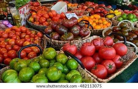 marketplace vegetables and fruits #482113075
