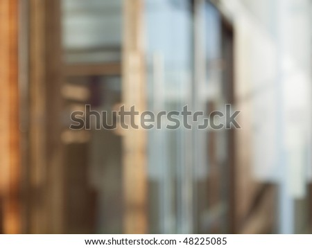 Blurred office building for background use