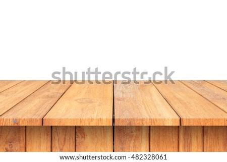 Wood Shelf Table isolated on white background #482328061