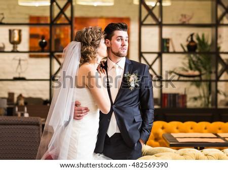 groom and bride portrait #482569390