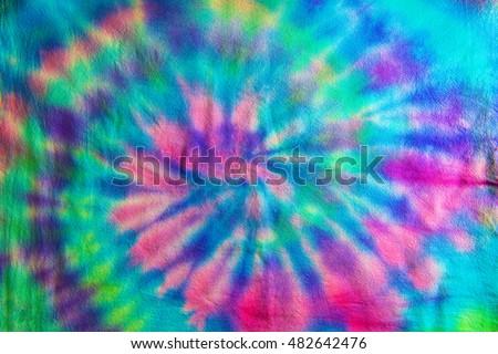 Swirl or Spiral pattern Tie dye fabric. #482642476