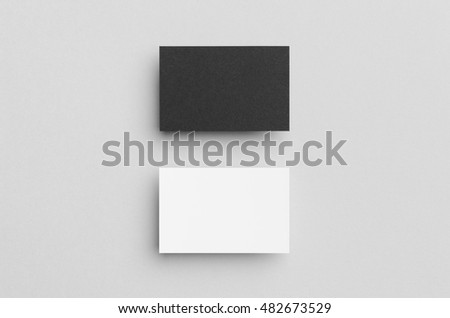 Black & White Business Card Mock-Up (85x55mm)