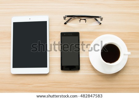 Smartphone in the office Desk #482847583