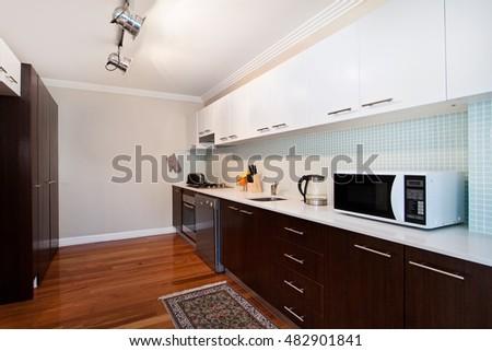 Modern gourmet kitchen interior #482901841