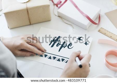 Belief Faith Hope Love Concept #483109771