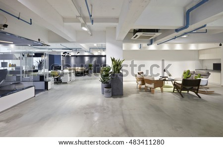 Fashion and modern office interiors Royalty-Free Stock Photo #483411280