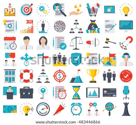 Business icons Royalty-Free Stock Photo #483446866
