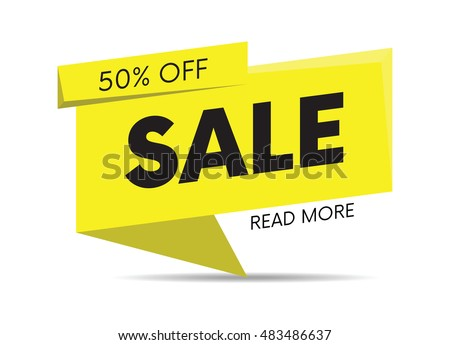 Sale, special offer web banner and poster, background. Read more place. Vector illustration. #483486637