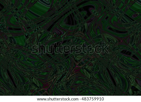 Colorful psychedelic background made of interweaving curved shapes. Illustration #483759910