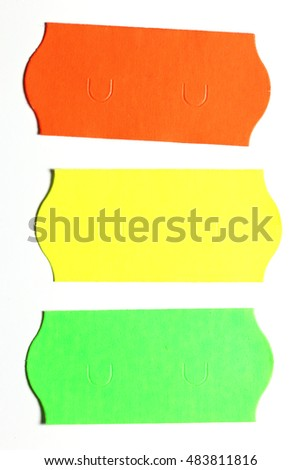 price stickers isolated on white background #483811816